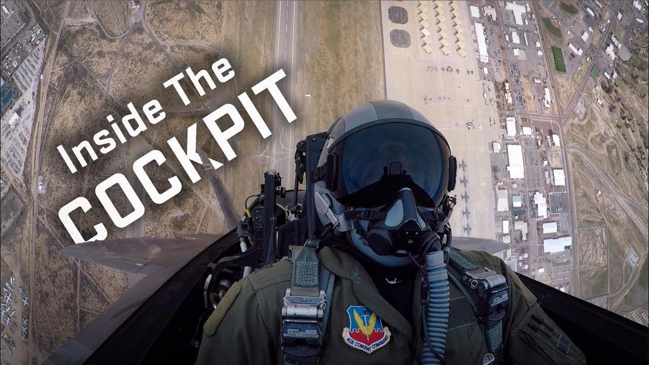 USAF Release Rare Cockpit Video Of An F-22 Raptor stealth jet performing precision aerial maneuvers