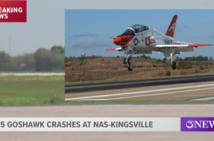 United States Navy T-45 Goshawk training jet aircraft crashes at NAS Kingsville