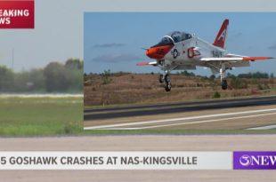 United States Navy T-45 Goshawk training jet aircraft crashes at NAS Kingsville