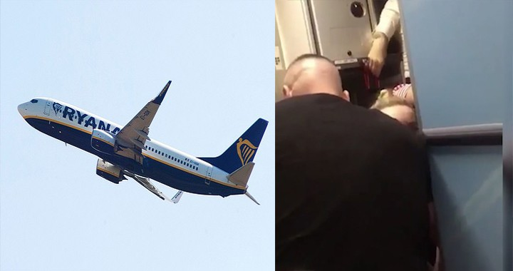 Video shows man tried to open the plane's door to kill everyone on board a Ryanair Flight