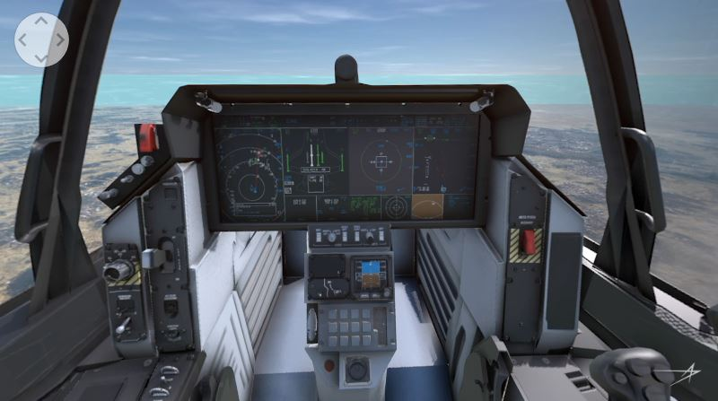 360° Video of F-35 Cockpit: Watch how an F-35 pilot can see through the aircraft airframe