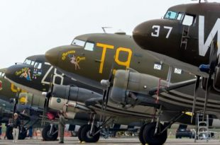 Here's All the Douglas C-47 Skytrain aircraft that participated in a Flypast over Normandy on D-Day 75th anniversary