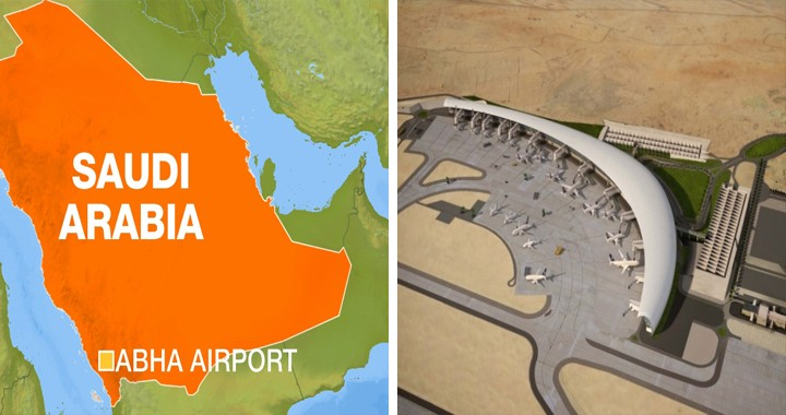 At least 26 injured in a Yemeni Houthi missile attack on Saudi airport
