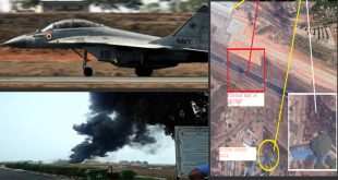 Indian Navy MiG-29K fighter jet Accidentally Dropped Fuel Tank During Take-Off at Goa Airport
