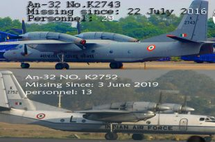 Third Indian Air Force Antonov AN-32 Aircraft Disappeared in last 33 Years