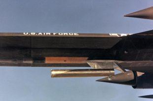 That time NASA YF-12 BLACKBIRD flew carrying a 'Coldwall' Heat Transfer pod beneath the forward fuselage
