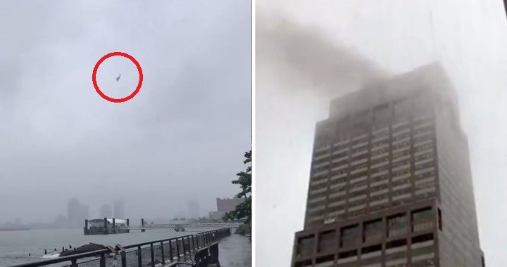 New York helicopter crash: Pilot dead after Helicopter crashes into Manhattan skyscraper