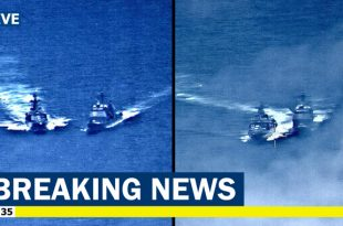 Photo and Video of Near-collision between U.S. and Russian warships in the Pacific
