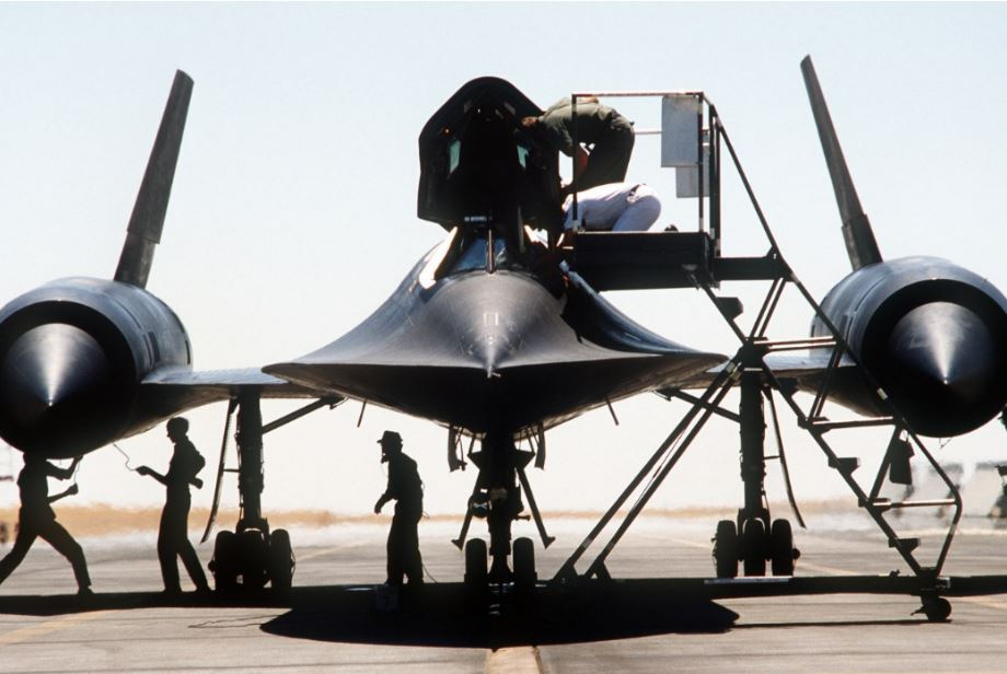 The SR-71 Blackbird that fell on it's right wing during maintenance due to a Stupid Mistake