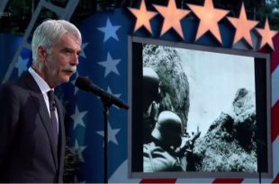 Sam Elliott share the story of Heroic WWII lead medic SGT Ray Lambert during the National Memorial Day Concert