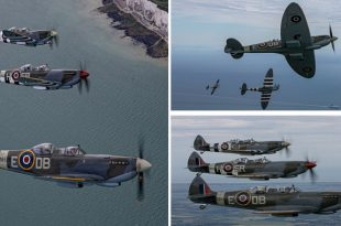 Spitfires fly over the white cliffs of Dover to mark D-Day 75th anniversary