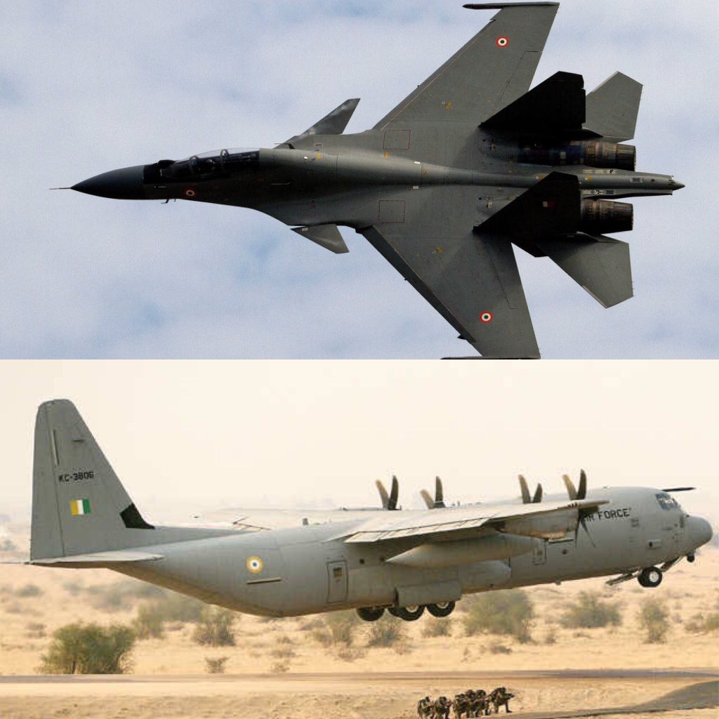 Sukhoi Su-30MKI and C-130 Hercules to locate missing AN-32 transport Aircraft