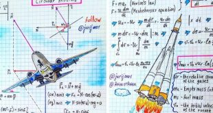 Talented Physics Teacher Mind-Blowing Diagrams Makes Art Out of Formulas