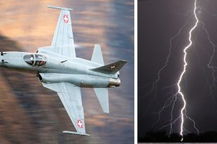 That time a F-5 Pilot was hit by a lightning that penetrated his Tiger cockpit