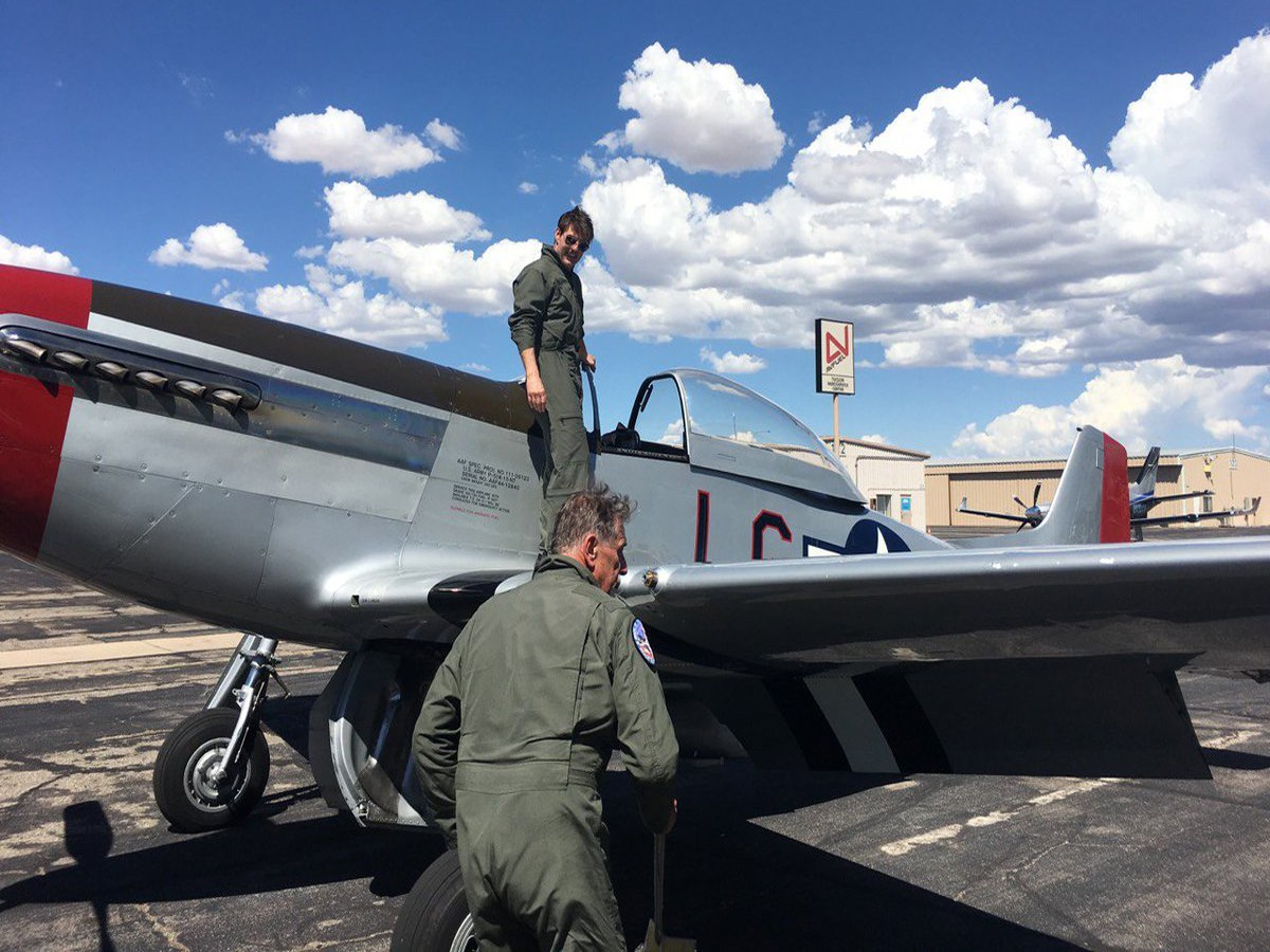 "Here's Top Gun: ""Maverick"" Actor Tom Cruise $4 Million Dollar American WWII Fighter jet"