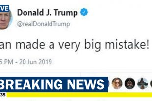 Trump tweets Iran made a 'very big mistake' by shooting down a U.S. Navy MQ-4C Triton drone