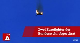 Two German Eurofighter Typhoon Fighter jets collided midair and crashed