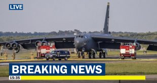 U.S. Air Force B-52 bomber makes emergency landing at RAF Mildenhall after engines failure