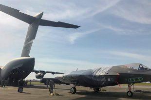 U.S. Air Force conducts first-ever F-35 shipment via C-17 Globemaster