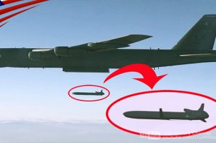 Video Features B-52 Stratofortress unleashing a 20 feet long $1 Million Nuclear Missile