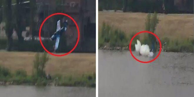 Dramatic Video Shows Yak-52 crashes into river at Polish airshow, killing pilot