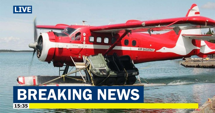 4 dead and 3 missing in a Air Saguenay plane crash into a Labrador lake, Canada