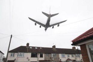 Body falls off Kenya Airways plane into London garden during landing at Heathrow airport
