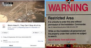 Feds Warn Alien Seekers UFO enthusiasts against storming Area 51