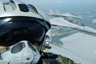 French Fighter jet pilot takes selfie from inside of Russian-developed Su-30 while flying 1,317mph
