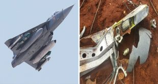 Indian Air Force HAL Tejas fighter jet External fuel tank accidentally Falls Mid Air Over Tamil Nadu