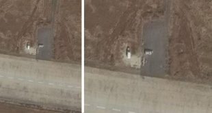 Satellite imagery Spotted Iranian military aircraft at Hama Airbase in northern Syria