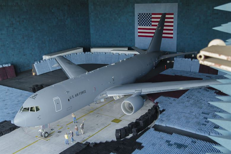 KC-46 Pegasus undergoes Avionic Test in the largest Anechoic chamber in the world