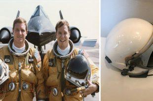 SR-71 Blackbird Pilot Helmet available on eBay for US $17,995.00