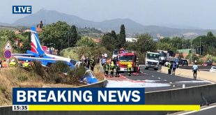 Pilot ejected safely as Patrouille de France Jet Crash-Lands on Road during Airshow Rehearsal