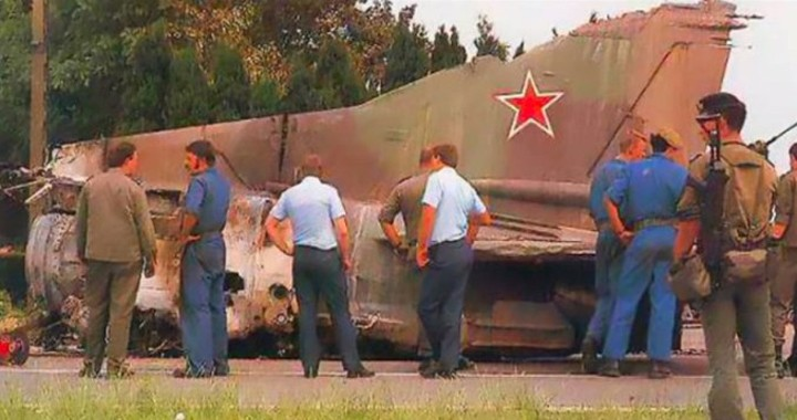 30 years ago today a Pilotless Soviet MiG-23 Jet Crossed Europe Before Crashing in Belgium