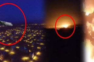 Terrifying video of Pakistan Army plane crashes into residential area, Killing 5 on-board & 13 on-ground