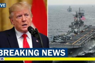 Trump says U.S. Navy warship Shot Down Iranian Drone Over Strait Of Hormuz