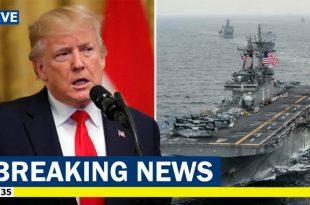 Trump says U.S. Navy warship Shot Down Iranian Drone Over Strait Of Hormuz