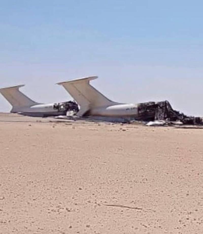 Two Ukrainian Ilyushin Il-76 Cargo plane destroyed by Airstrike on Libya's Al Jufra Airbase