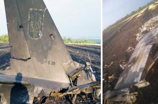 Ukrainian Air Force L-39C Albatros military trainer Aircraft crashed near Starovirivka settlement