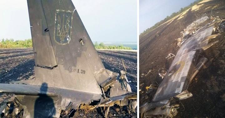 Ukrainian Air Force L-39C Albatros military trainer Aircraft crashed near Starovirivka settlement
