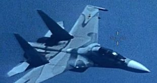 Venezuelan Su-30MKII Flanker fighter jet Aggressively Shadowed a U.S. Navy EP-3E aircraft