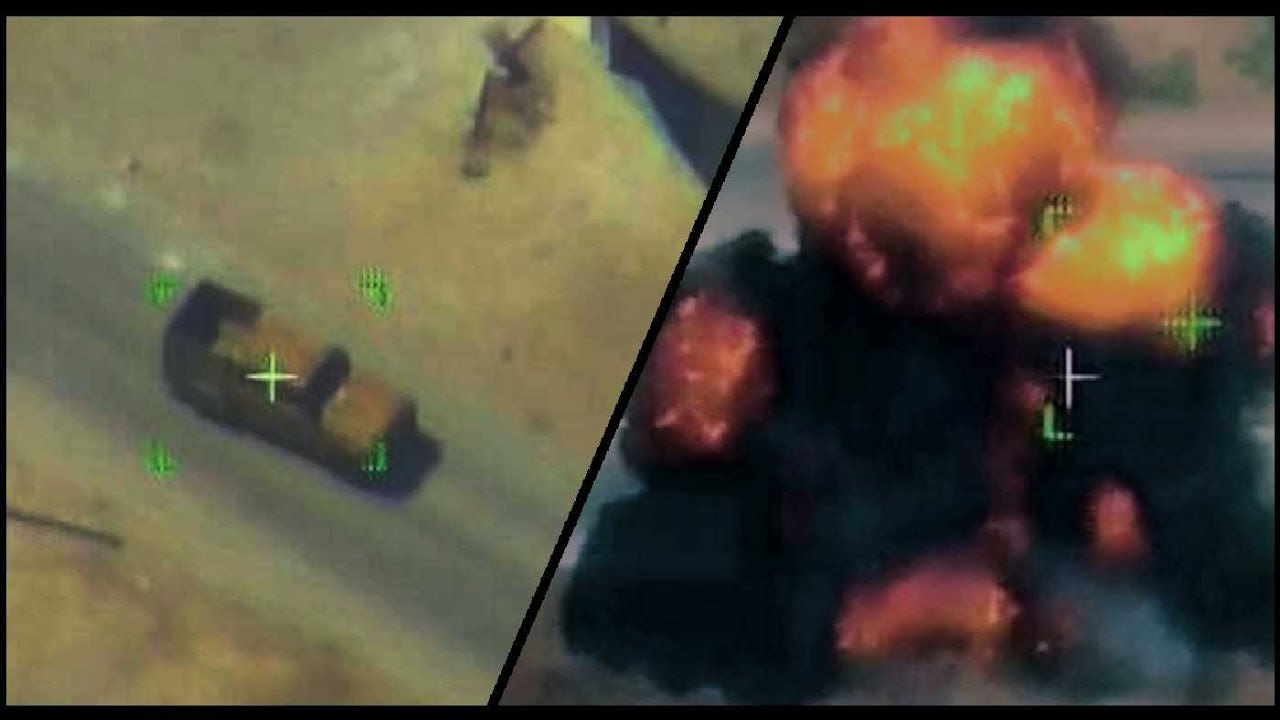Video Footage of Syrian Air Force Airstrikes on militant positions in southern Idlib
