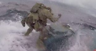 Watch Fearless Coast Guard Jumps On Moving narco Submarine in the middle of the Pacific