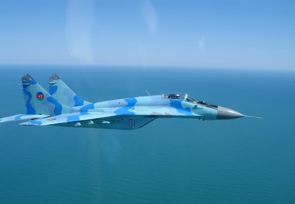 Azerbaijani Air Force MiG-29 Fighter jet crashes into the Sea, Pilot Missing