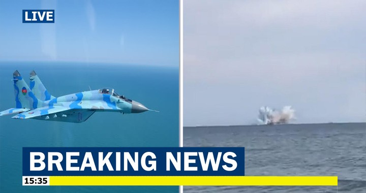 Azerbaijani Air Force MiG-29 Fighter jet crashes into the Sea, Pilot