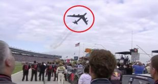 Video Features B-52 Stratofortress Flying Over Nascar Race During Anthem