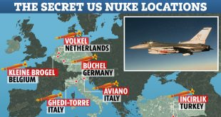 Secret locations of 150 US nuclear weapons in Europe are accidentally leaked in Nato report
