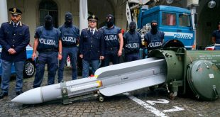Italian police seized a combat-ready Air-to-Air missile in raids on far right Extremists