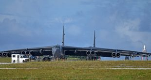 U.S. Air Force deploys Minot AFB B-52 Stratofortress heavy Bomber to Andersen AFB